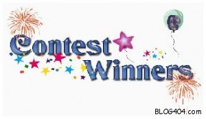 blog contest winners announced logo 300x174  Retweet contest winners announced !