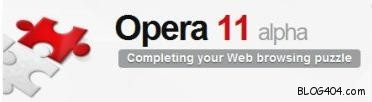 opera 11 alpha Opera 11 Alpha at its best with Extensions