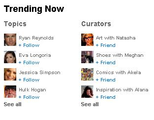 new cool twitter trending topics myspace features logo art celebrities list and curators name and avatars The New MySpace 3.0 goes live !