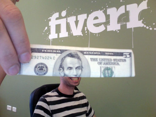 fiverr money note dollar gig Fiverr Review   Get Everything done at 5$
