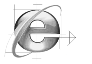 awesome shaded IE internet explorer logo black and white All portable versions of Internet Explorer for Download