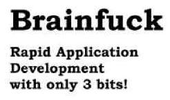 brainfuck programming language coding logo symbol Top 10 Crazy Programming Languages