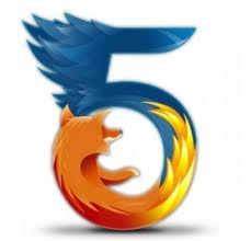firefox five 5 fire beauty logo symbol official bird fox wild pattern image Firefox 5 now available for download