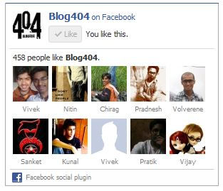 blog404 like facebok box with black border How to easily remove the border of your Facebook Page Like Box