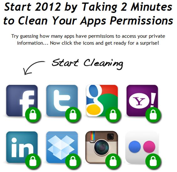 clean apps permisions grant revoke rights authrization to web 2 0 services and tools via mypermissions  How to change your App permissions in Bulk