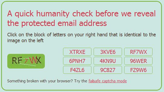 scr.im captcha test screenshot send email select 5 Free Tools to Share and Protect your Email Address Online