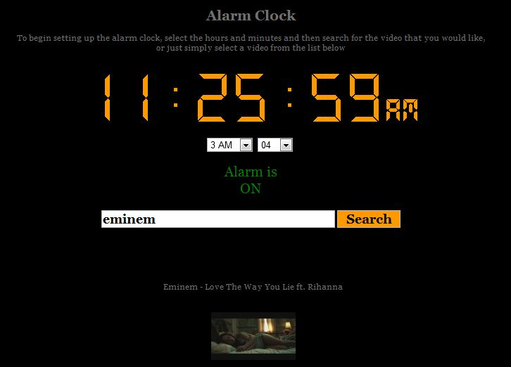online alarm virtual clock app video song tone  List of Free Online Alarm Clock Apps