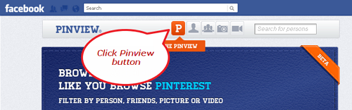 click pinview button facebook app Convert your Facebook into a Pinterest Timeline