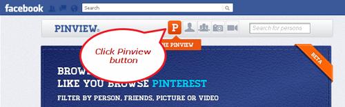 click pinview button facebook app Convert your Facebook into a Pinterest Timeline
