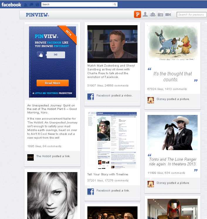 facebook pinview app pinterest timeline setting Convert your Facebook into a Pinterest Timeline