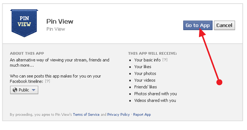 go to app public terms of service Convert your Facebook into a Pinterest Timeline