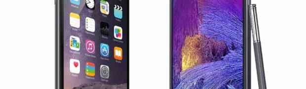Ultimate battle: iPhone6 Plus vs Samsung Galaxy Note 4